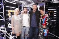 'The Voice' Coaches Bond Over Acoustic Cover of 'Waterfalls'