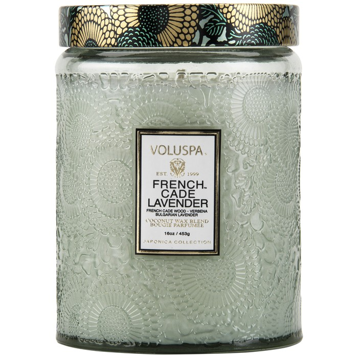French Cade & Lavender Candle; Photo via Volupsa Candle