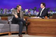 Jimmy Fallon Shows Blake Shelton Around His New Ride at Universal Studios on 'Tonight Show'