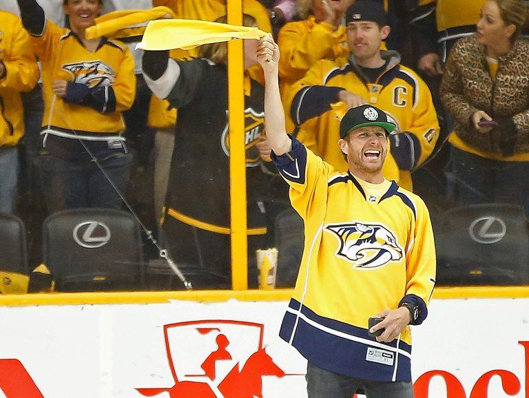 Country Stars Support Nashville Predators at Second Round of NHL Playoffs