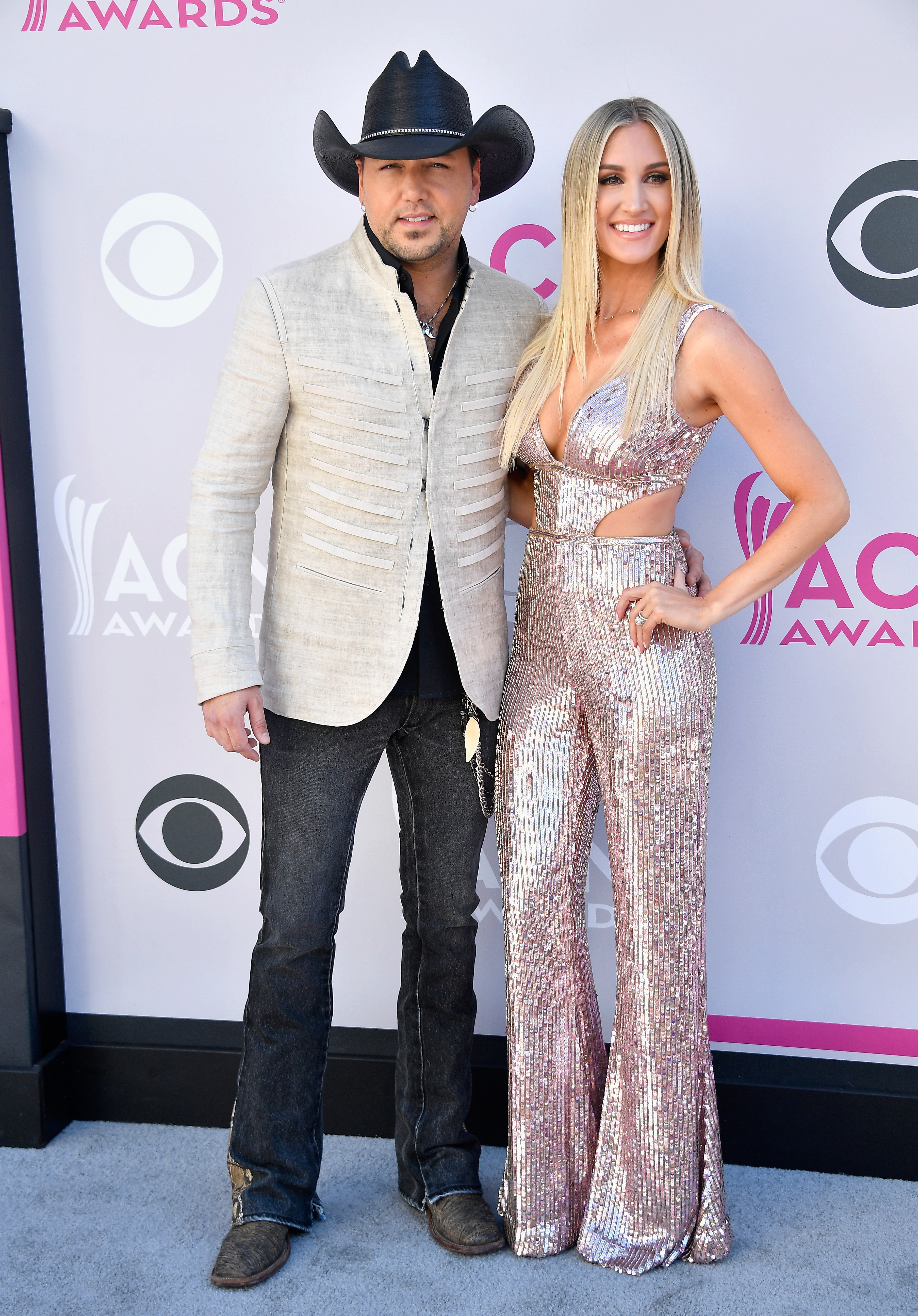 Jason Aldean and Brittany Kerr; Photo by Frazer Harrison/Getty Images