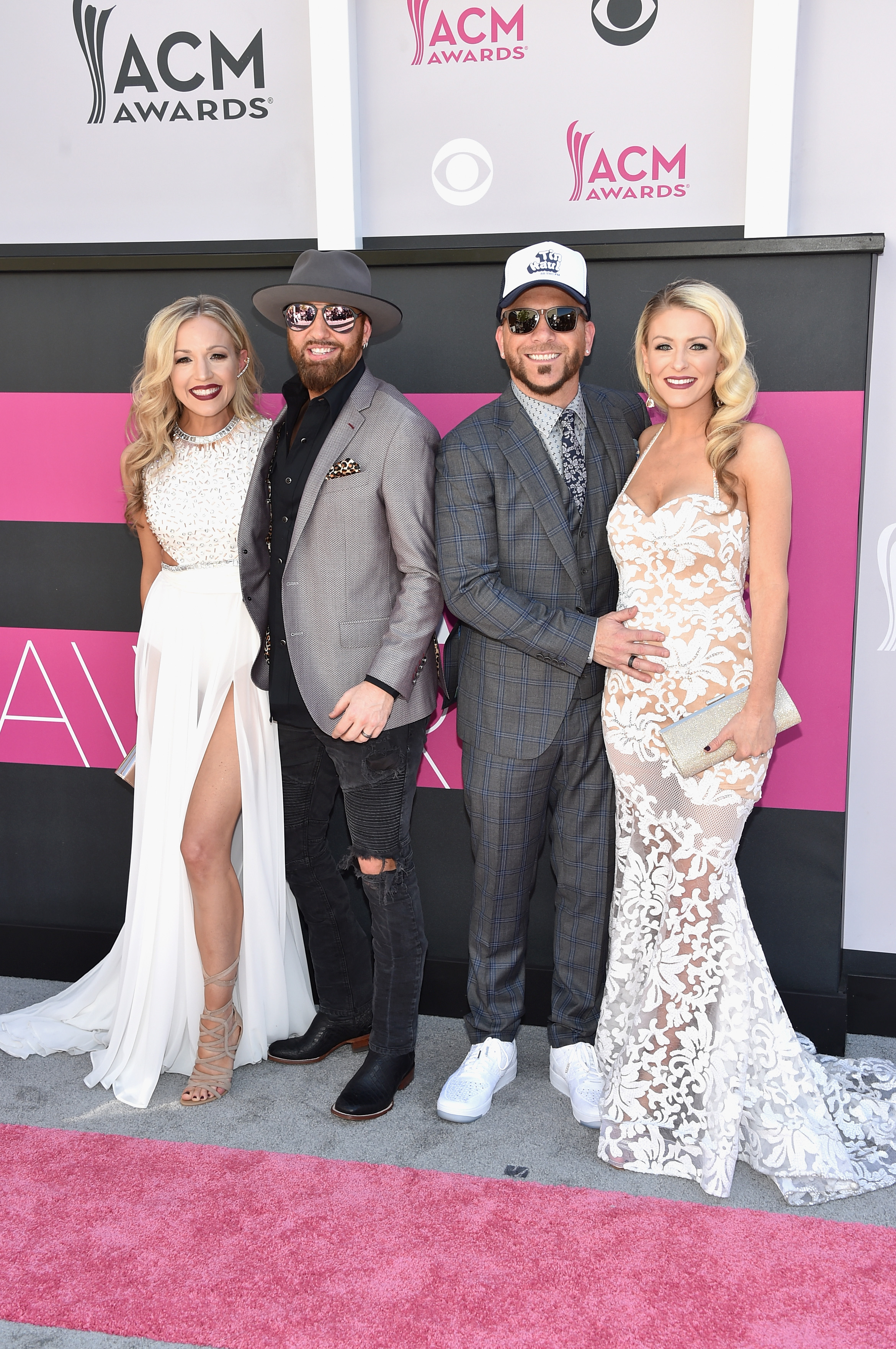 Kristen White, Preston Brust and Chris Lucas of music group LOCASH, and Kaitlyn Lucas; Photo by John Shearer/WireImage