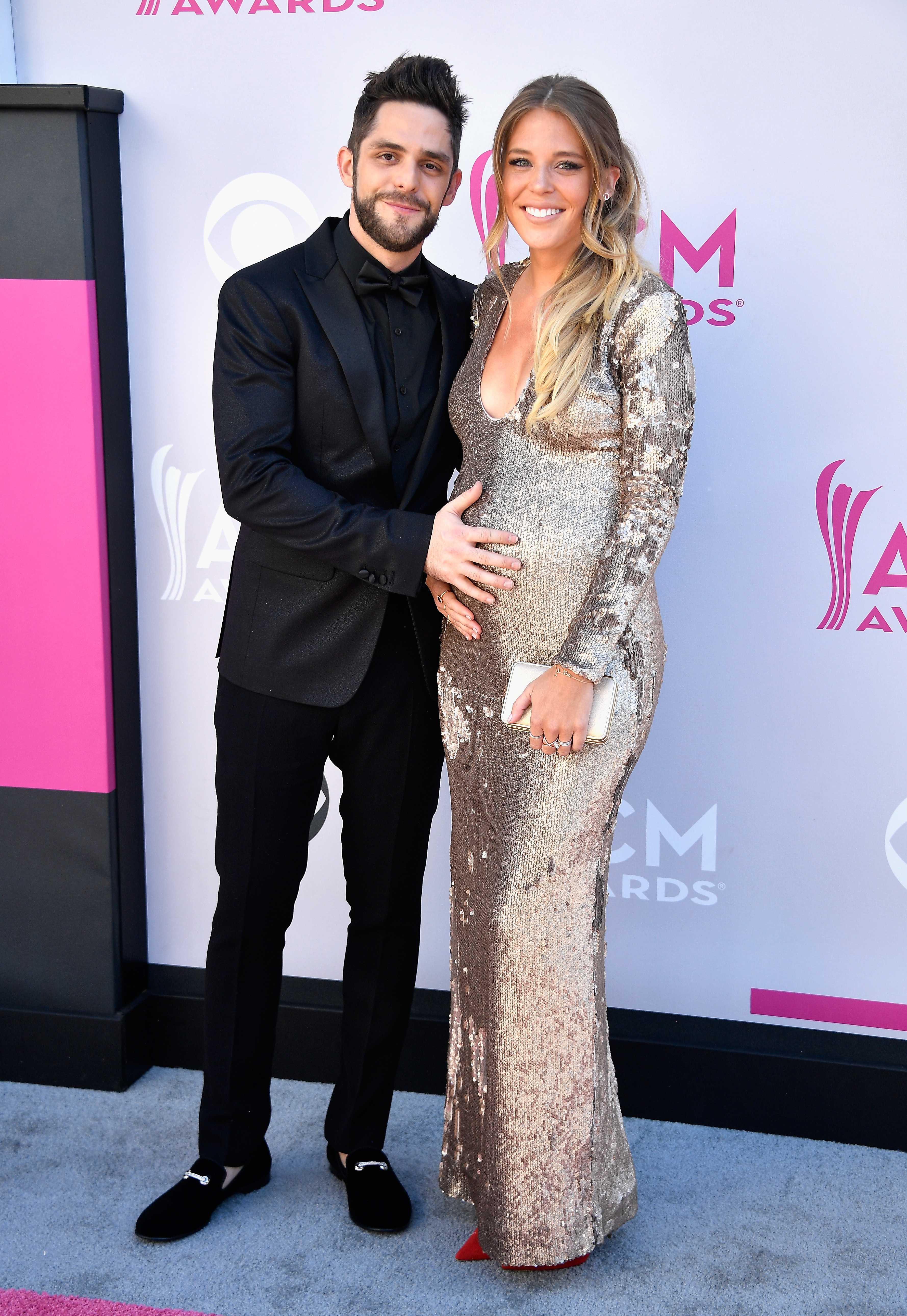 Thomas Rhett and Lauren Gregory Akins; Photo by Frazer Harrison/Getty Images