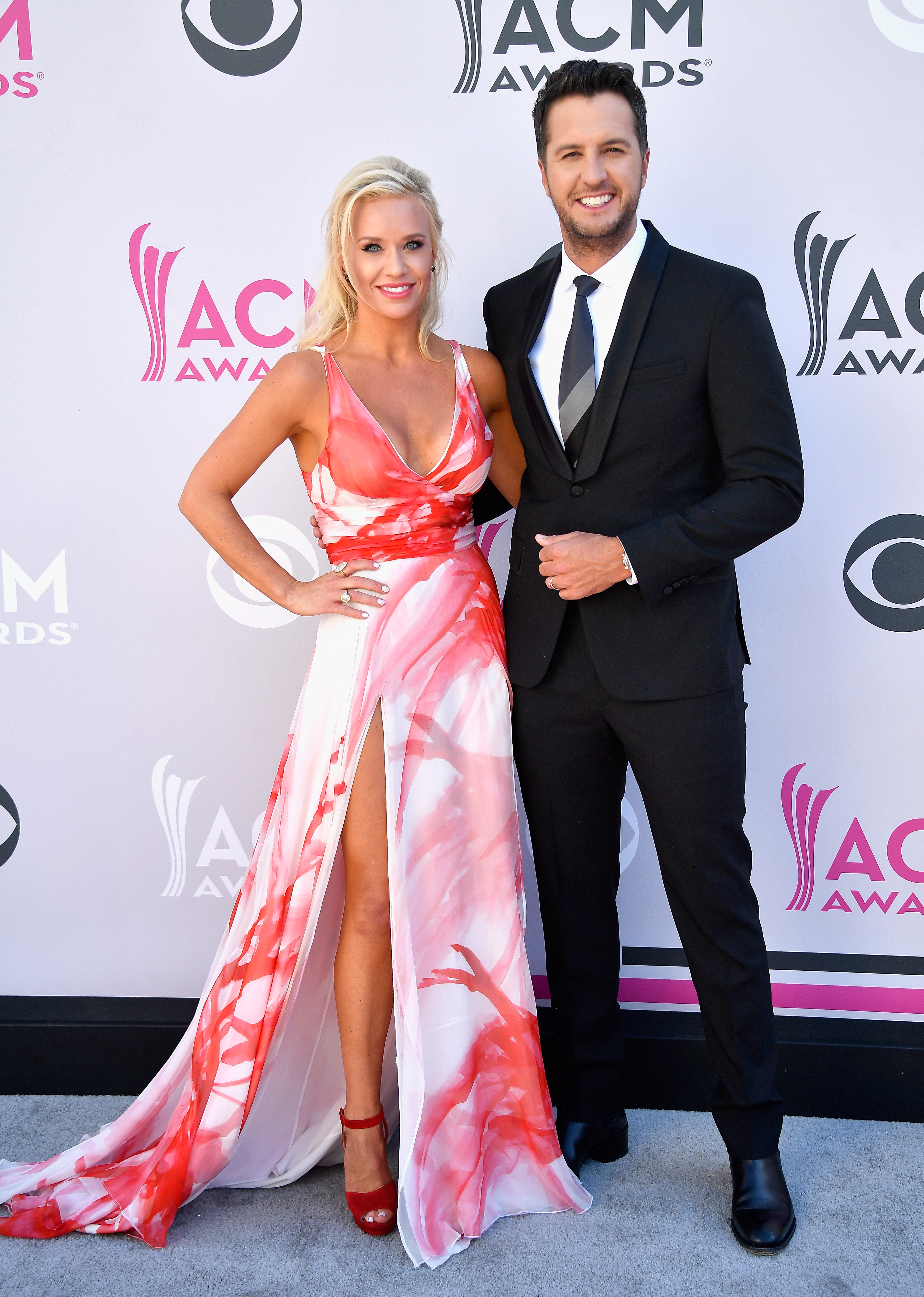 Caroline Boyer and Luke Bryan attend Photo by Frazer Harrison/Getty Images