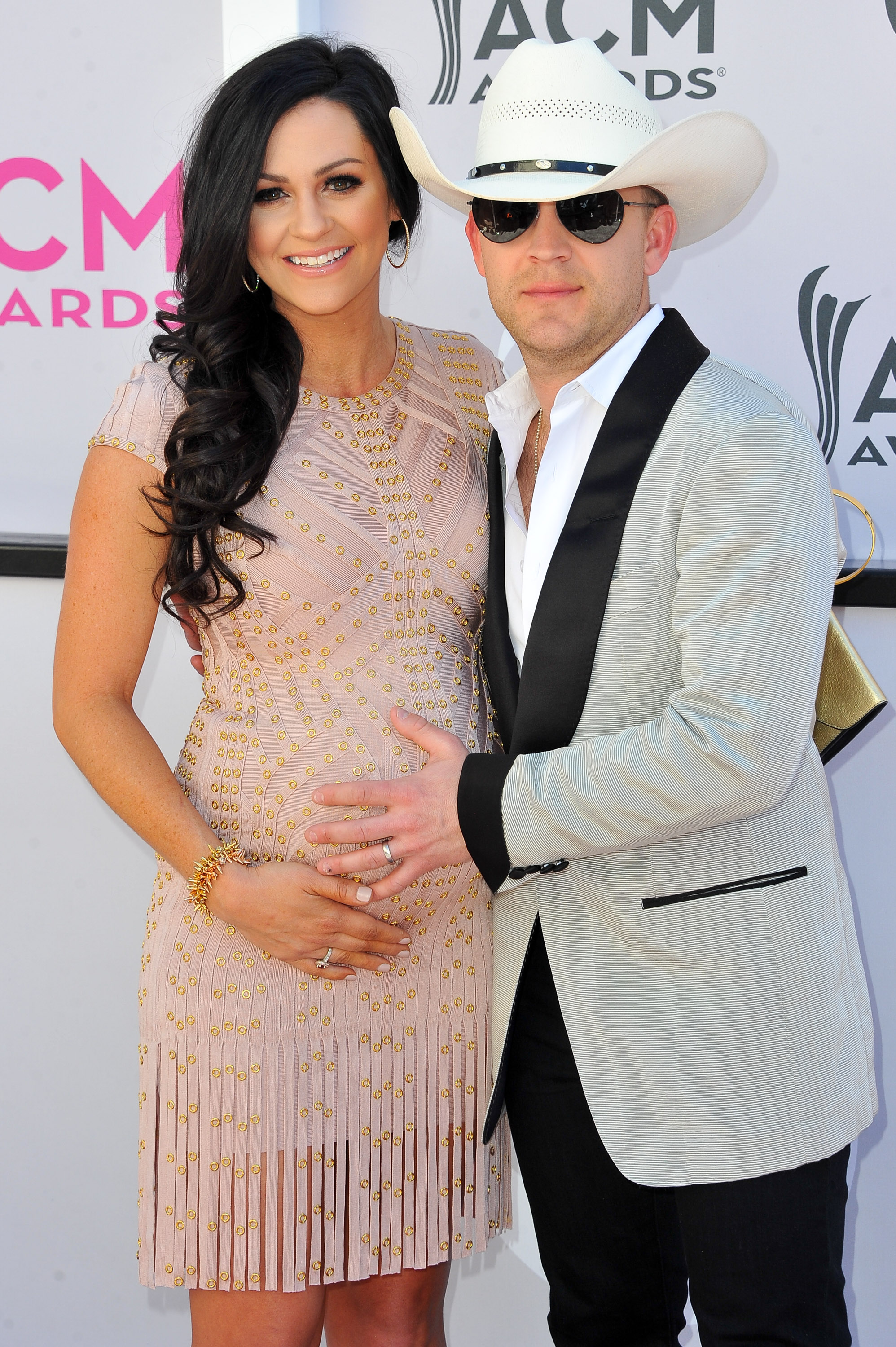 Justin Moore and Kate Moore; Photo by Allen Berezovsky/WireImage for Fashion Media