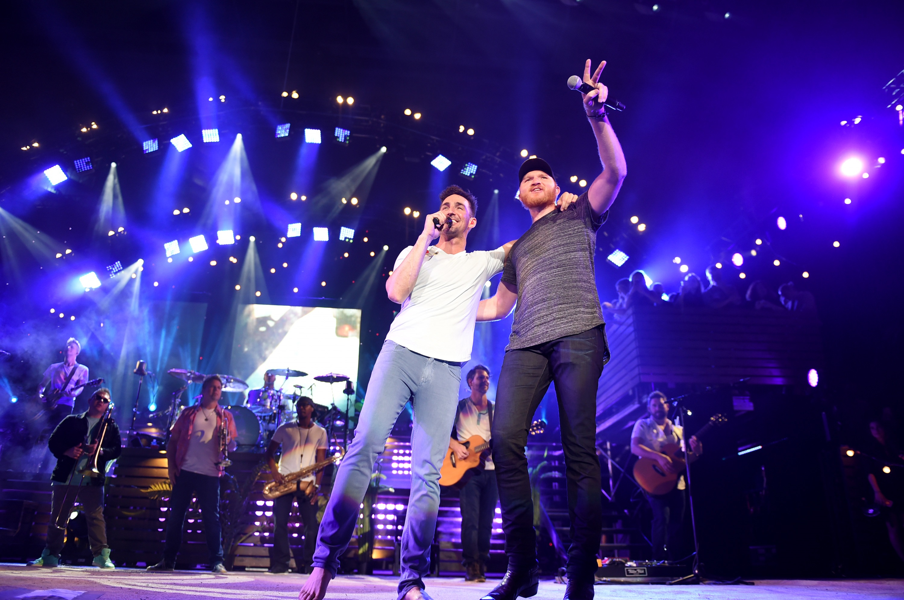 Jake Owen and Eric Paslay; Photo by John Shearer/Getty Images for Sony Music Nashville