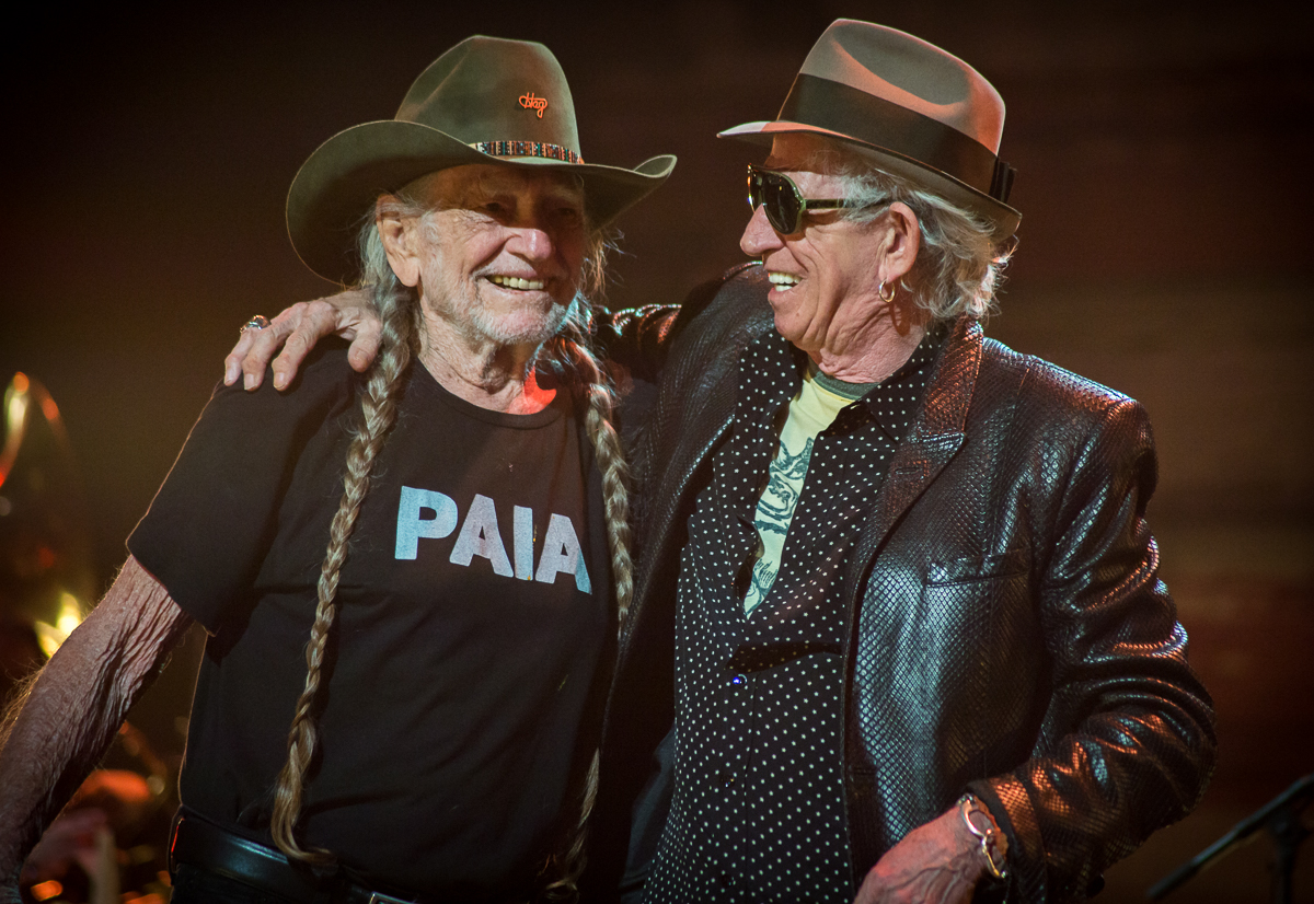 Willie Nelson and Keith Richards; Photo by Joshua Timmermans for Blackbird Presents