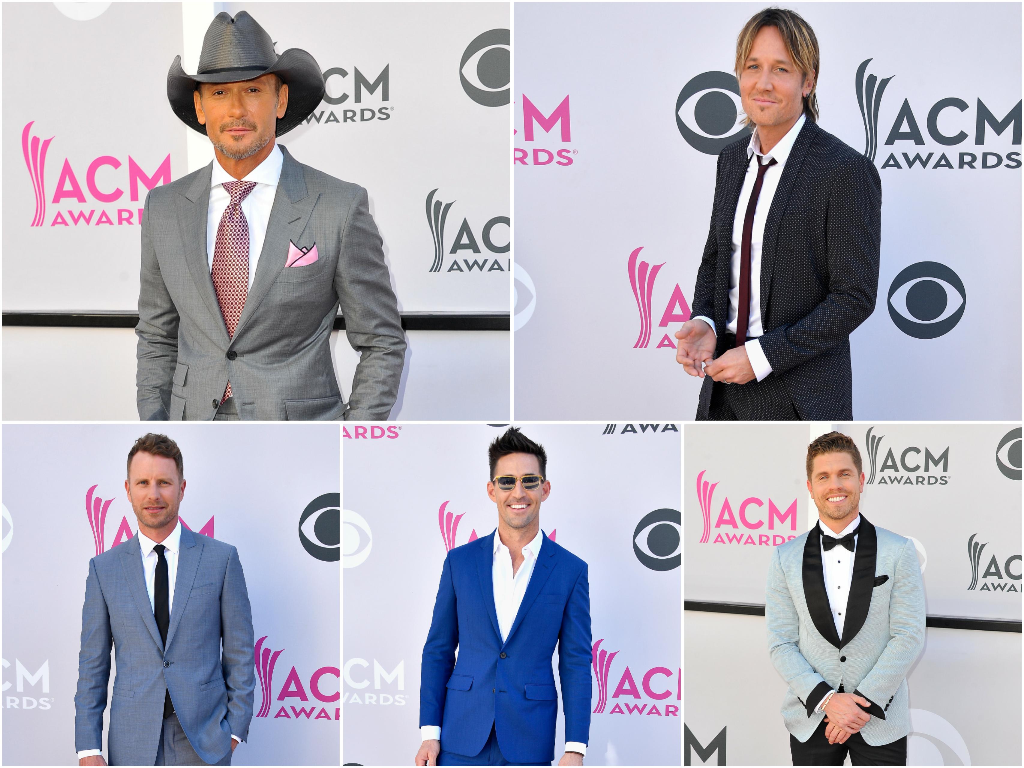 Tim McGraw, Keith Urban, Dierks Bentley, Jake Owen, Dustin Lynch; Photos by Getty Images