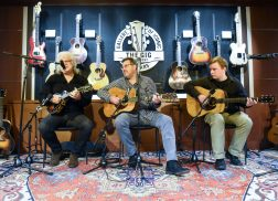 Vince Gill and Ricky Skaggs Perform at Opening of Belmont University Gallery of Iconic Guitars