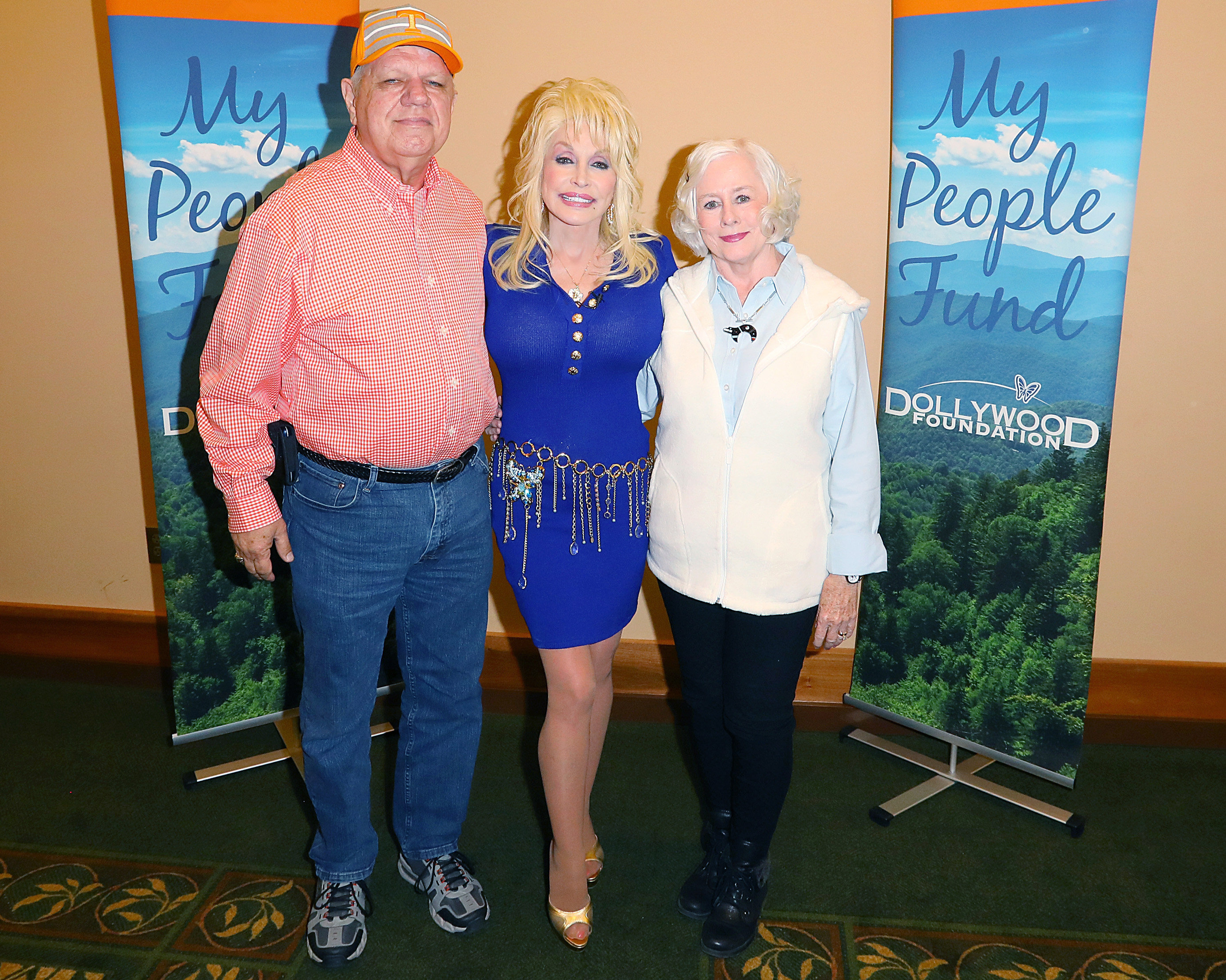 Dolly Parton and Sevier County Residents; Photo via Webster PR