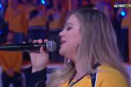 Kelly Clarkson Slays National Anthem at Nashville Predators Playoffs Game