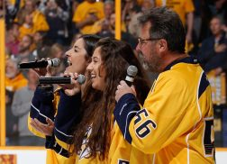 Vince Gill and Daughters Perform National Anthem at Predators Playoff Game
