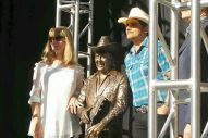 Brad Paisley, Ricky Skaggs Unveil Little Jimmy Dickens, Bill Monroe Statues Outside of Ryman Auditorium