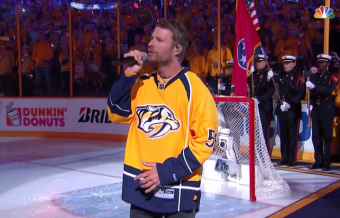 Dierks Bentley Sings National Anthem at Stanley Cup Finals