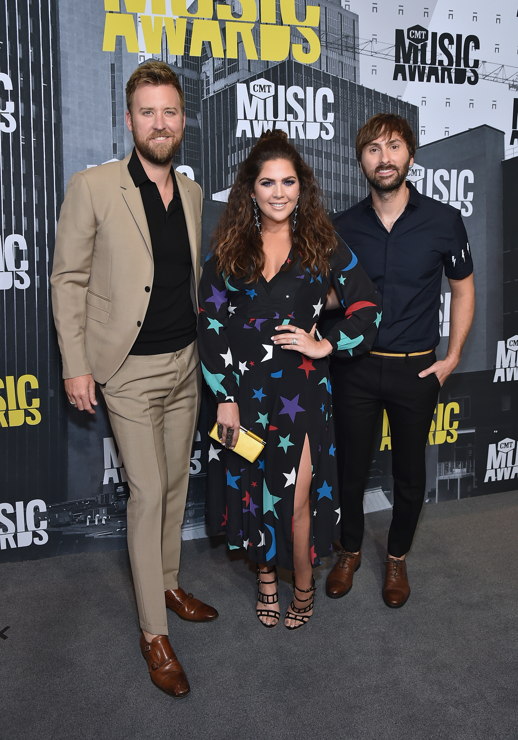 NASHVILLE, TN - JUNE 07: (L-R) Charles Kelley, Hillary Scott and Dave Haywood of Lady Antebellum attends the 2017 CMT Music Awards at the Music City Center on June 7, 2017 in Nashville, Tennessee. (Photo by Mike Coppola/WireImage)