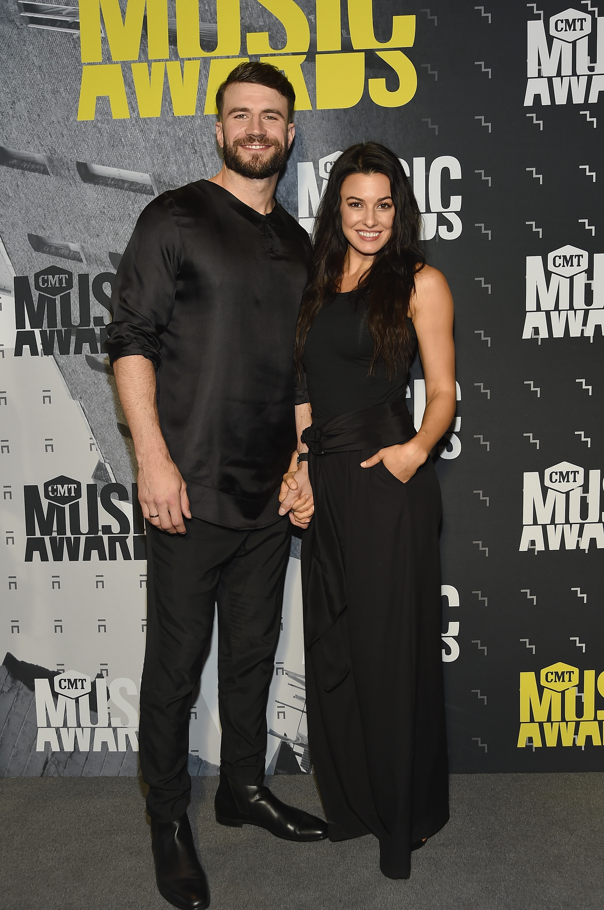 NASHVILLE, TN - JUNE 07: Singer-songwriter Sam Hunt and Hannah Lee Fowler attend the 2017 CMT Music awards at the Music City Center on June 7, 2017 in Nashville, Tennessee. (Photo by Rick Diamond/Getty Images for CMT)