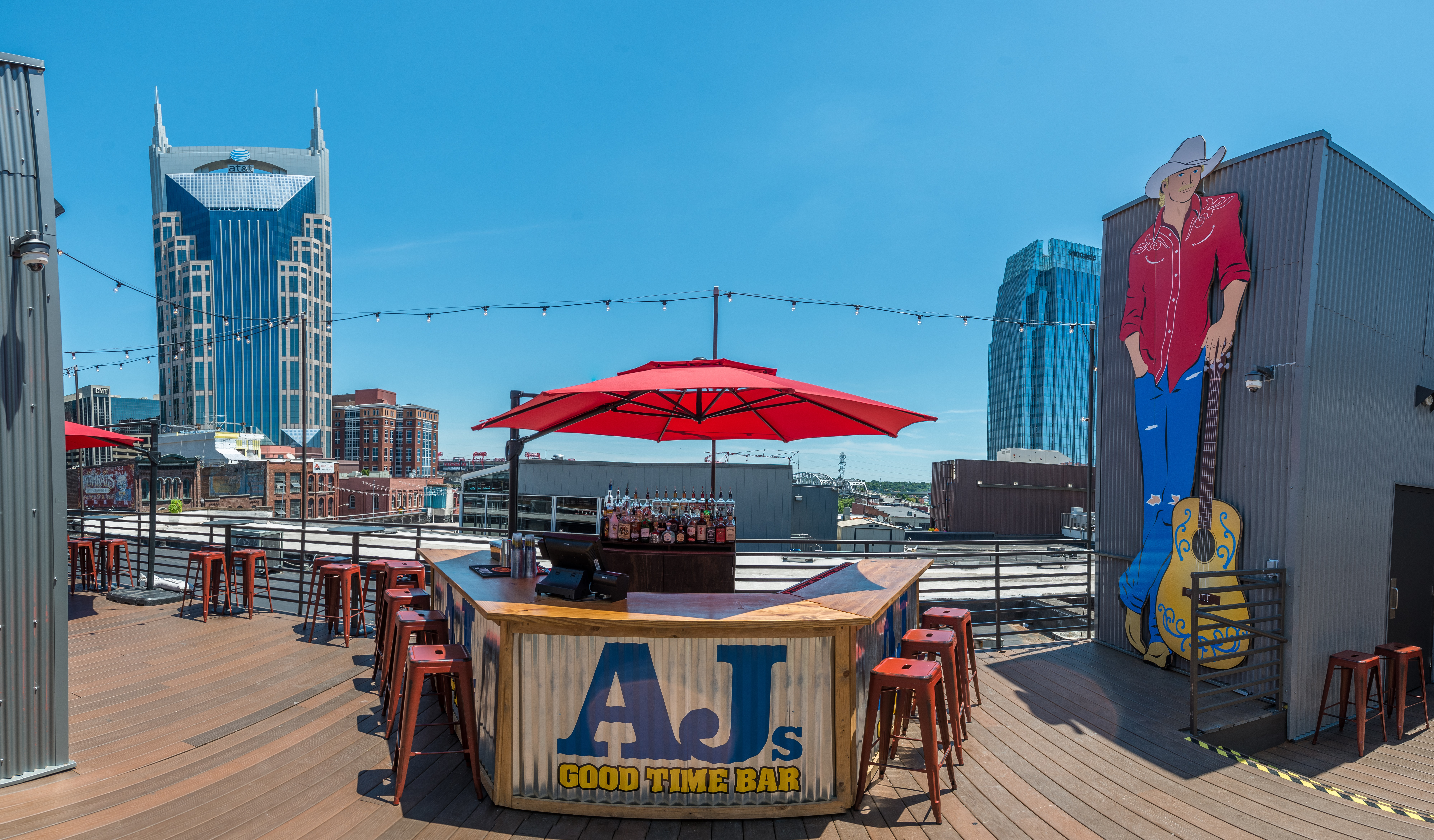 Alan Jackson's AJ's Good Time Bar (rooftop); Photo courtesy of Shore Fire Media
