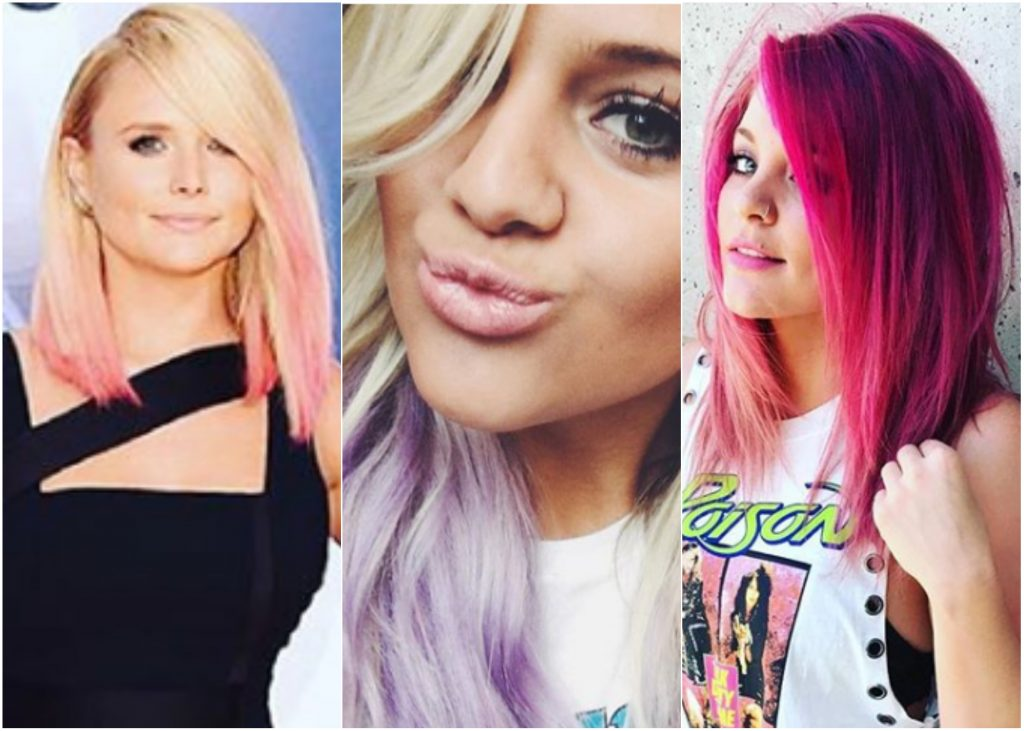 Pink And Purple Hair Styles: Pretty In Pink (and Purple!): Country Stars Who Have