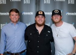 Luke Combs Celebrates No.1 'Hurricane' With Co-Writers in Nashville