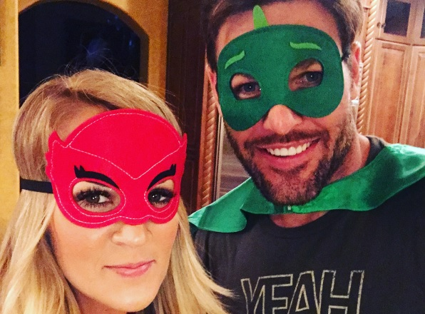 Carrie Underwood and Mike Fisher Transform Into Bedtime Superheroes