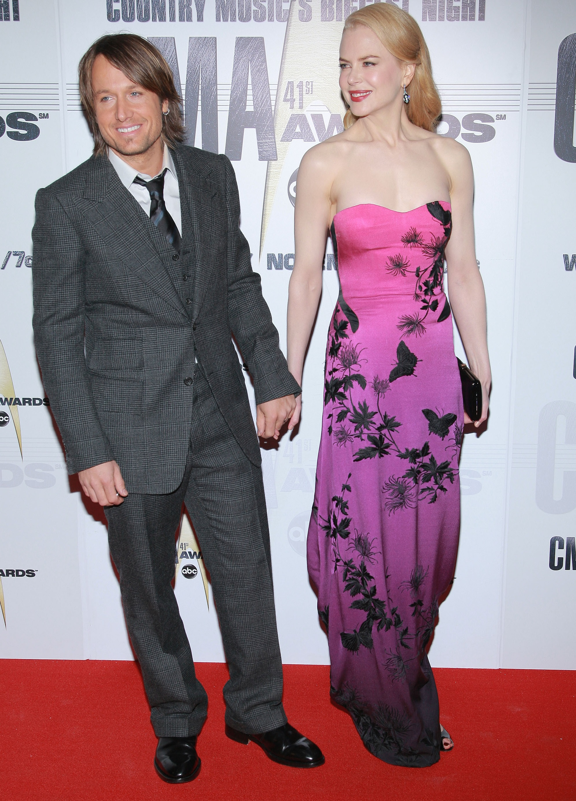 Keith Urban and Nicole Kidman arrive at the 41st Annual CMA Awards at the Sommet Center on November 7, 2007 in Nashville TN; Photo by Michael Loccisano/FilmMagic