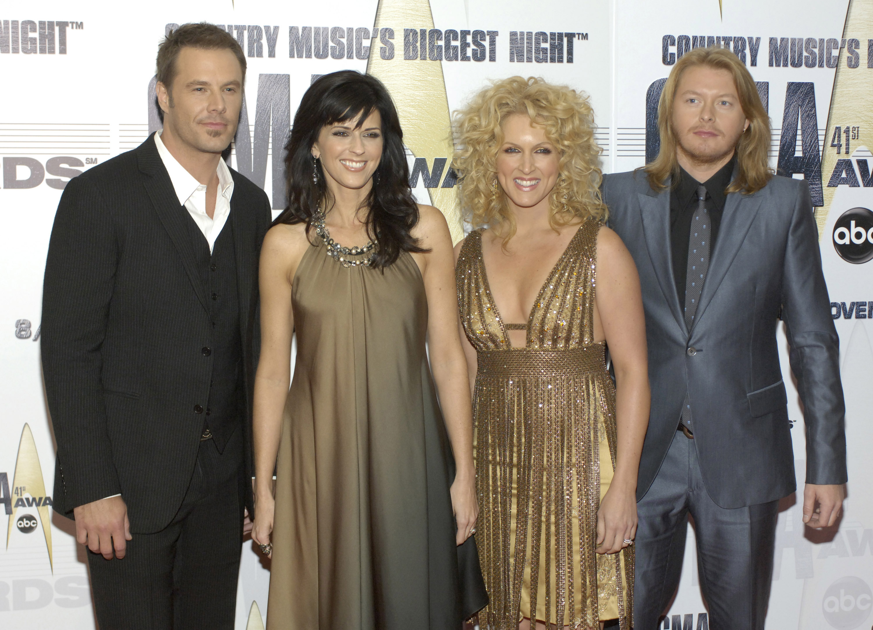 Jimi Westbrook, Karen Fairchild, Kimberly Roads Schlapman and Phillip Sweet of Little Big Town arrive at the 41st Annual CMA Awards at the Sommet Center on November 7, 2007 in Nashville TN; Photo by Frank Mullen/WireImage