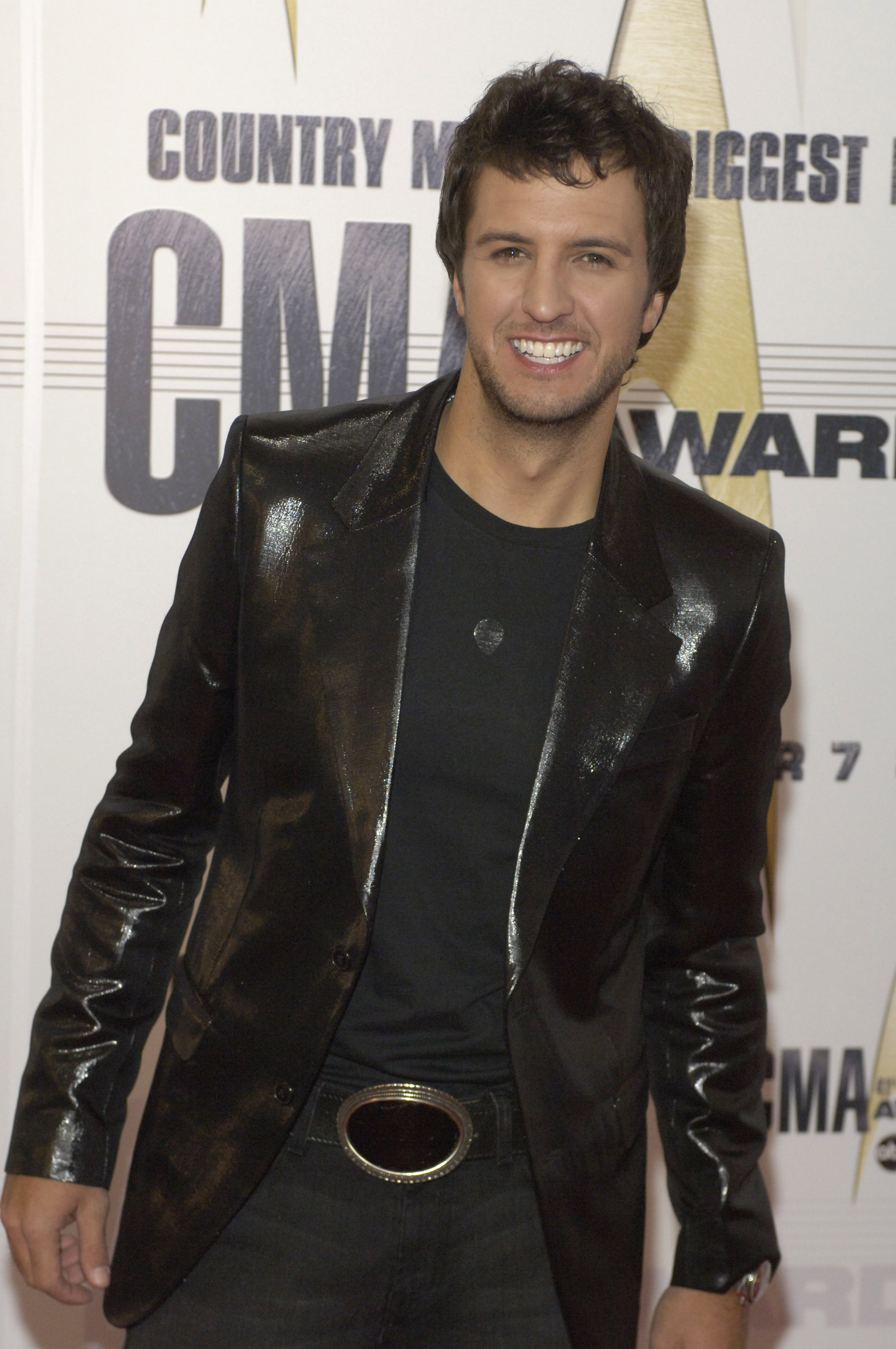 Luke Bryan arrives at the 41st Annual CMA Awards at the Sommet Center on November 7, 2007 in Nashville TN; Photo by Frank Mullen/WireImage