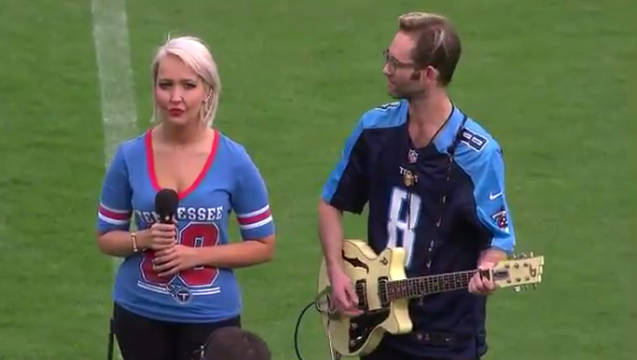 Meghan Linsey Defends Her Decision to Take a Knee After Singing the National Anthem