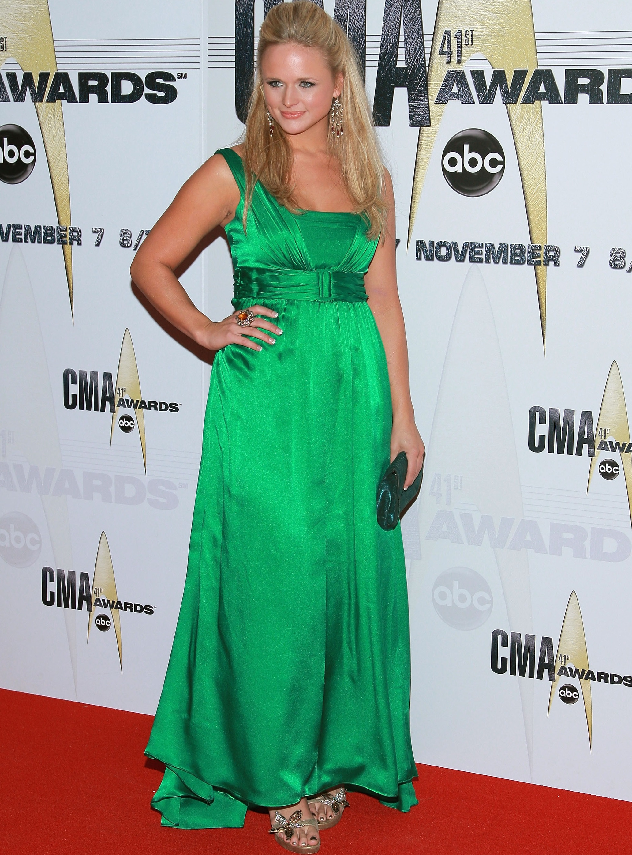 Miranda Lambert arrives at the 41st Annual CMA Awards at the Sommet Center on November 7, 2007 in Nashville TN; Photo by Michael Loccisano/FilmMagic