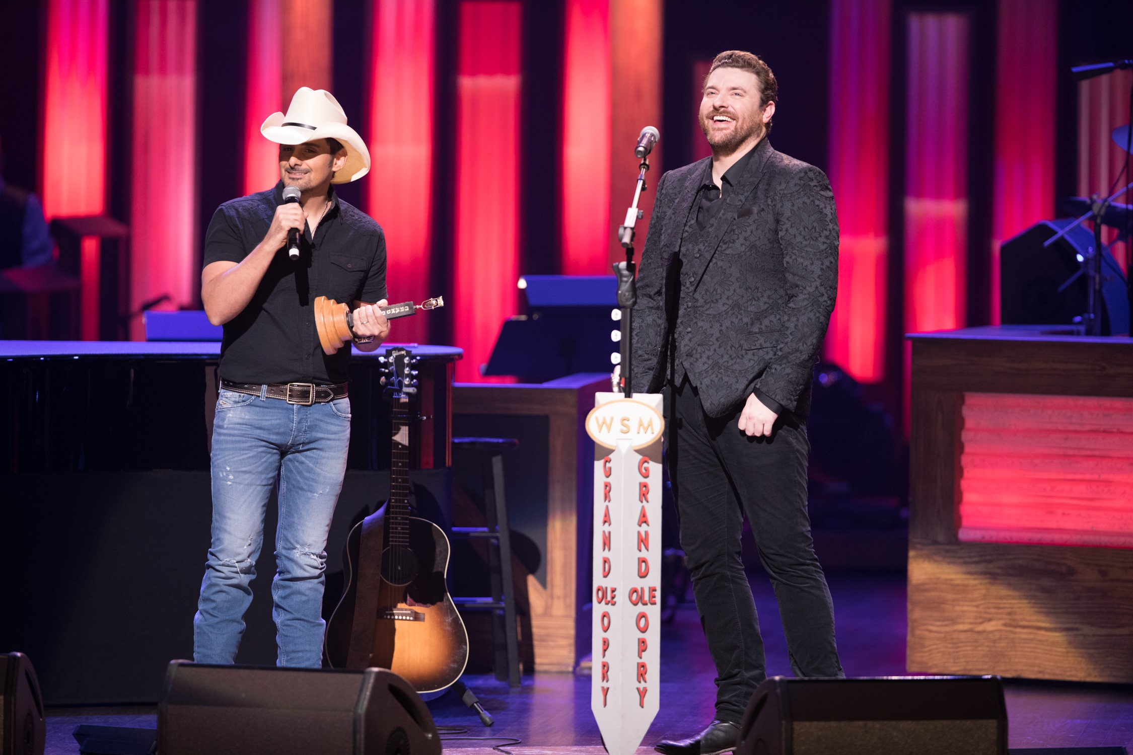 Brad Paisley and Chris Young; Photo by Chris Hollo