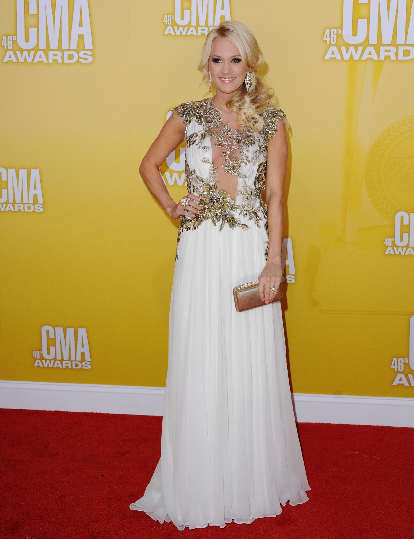 Carrie Underwood at the 46th annual CMA Awards on November 1, 2012; Photo by Jon Kopaloff/FilmMagic