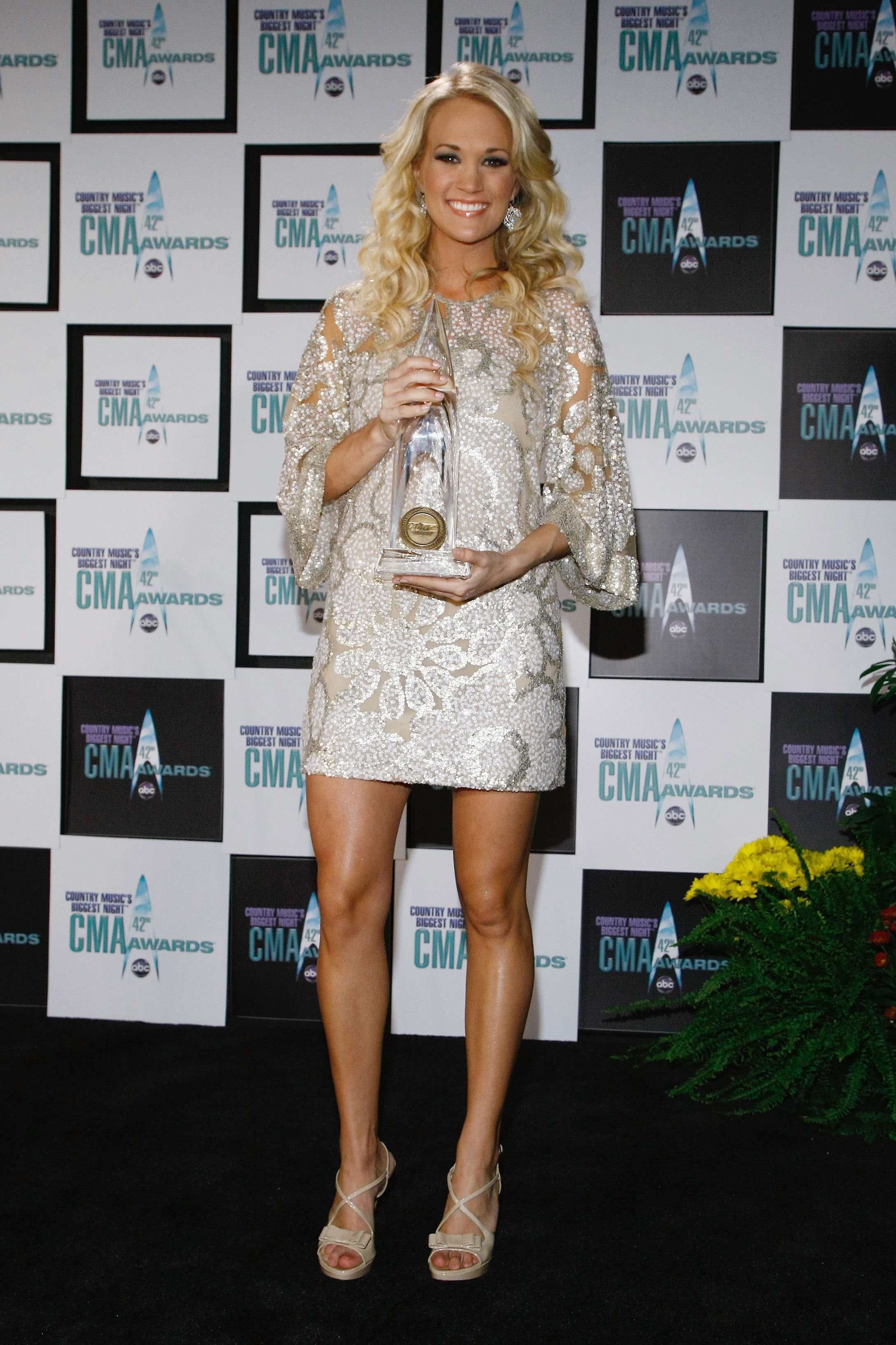 Carrie Underwood at the 42nd Annual CMA Awards on November 12, 2008; Photo by Jemal Countess/WireImage