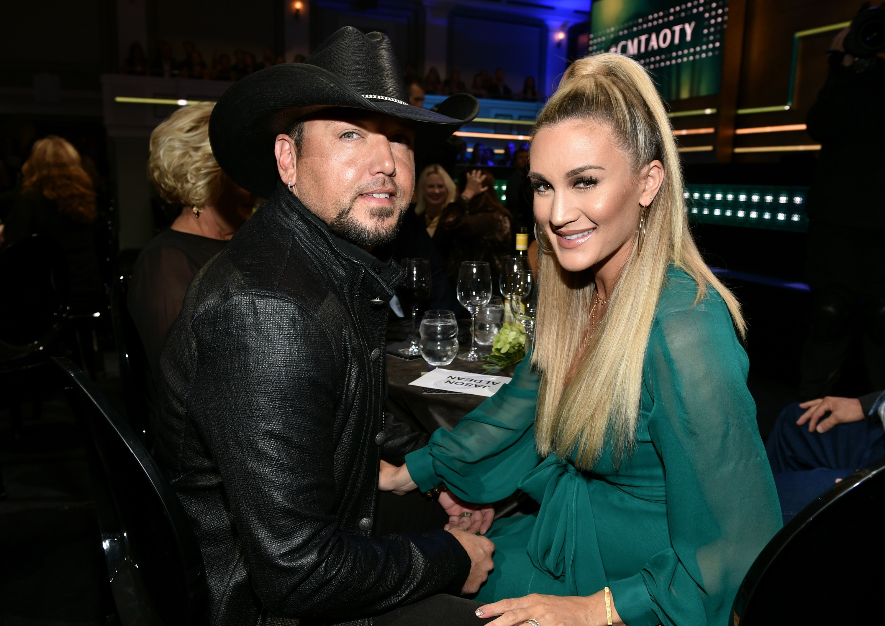 Jason Aldean and Brittany Kerr; Photo by John Shearer/Getty Images for CMT