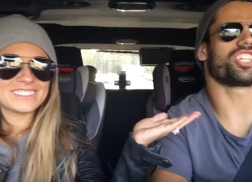 Jessie James Decker and Eric Decker Give Car Karaoke a Go