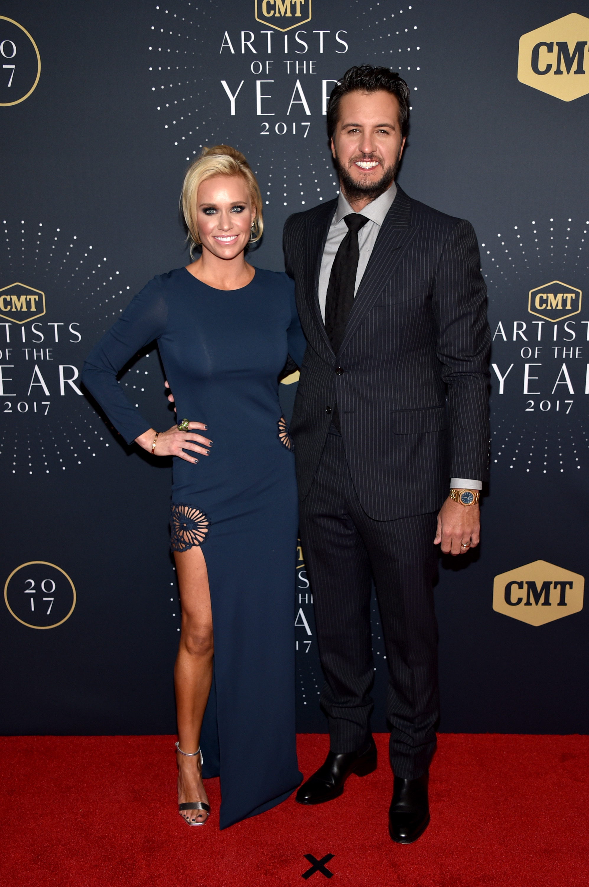 Luke Bryan and wife Caroline Boyer; Photo by John Shearer/Getty Images for CMT
