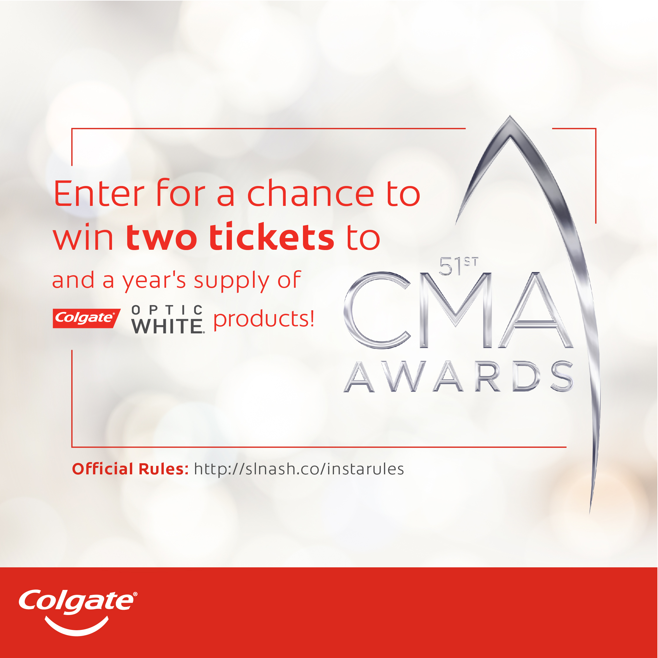 Enter for a Chance To Win Two Tickets to the CMA Awards and a Year's Supply of Colgate Optic White!