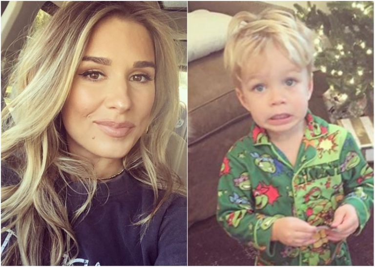 Jessie James Decker Catches Her Son Opening Christmas Presents Early