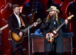 Chris Stapleton Makes Surprise Appearance at Justin Timberlake Show