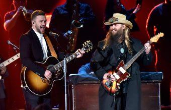 Chris Stapleton Surprises Fans at Timberlake Show