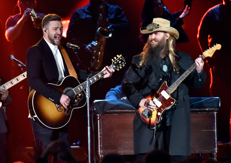 87401bcf562e Chris Stapleton Makes Surprise Appearance at Justin Timberlake Show ...
