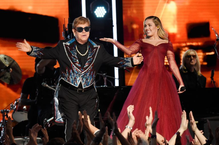 Miley Cyrus Becomes 'Tiny Dancer' During Elton John GRAMMY Collaboration