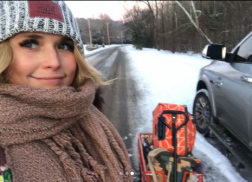 Country Stars Enjoy Nashville Snow Day