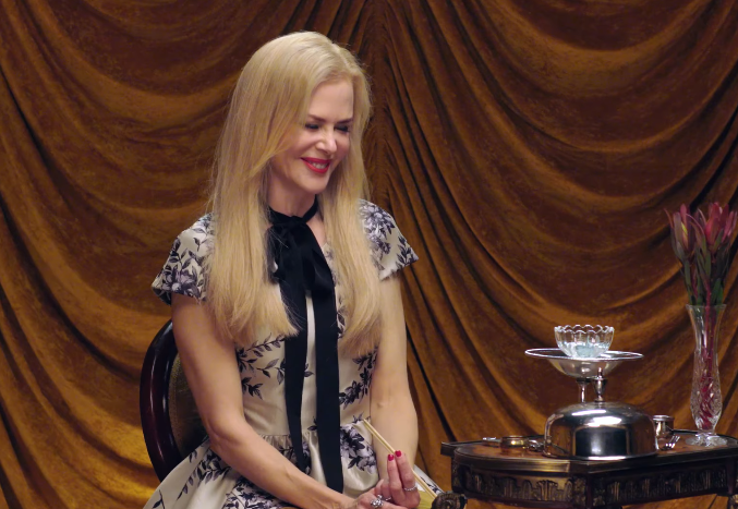 Nicole Kidman Eats Bugs Without Flinching During 'Secret Talent Theatre'