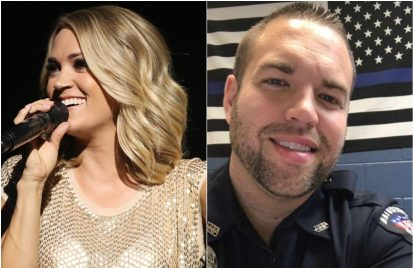 Carrie Underwood Gives $10,000 to Injured Officer