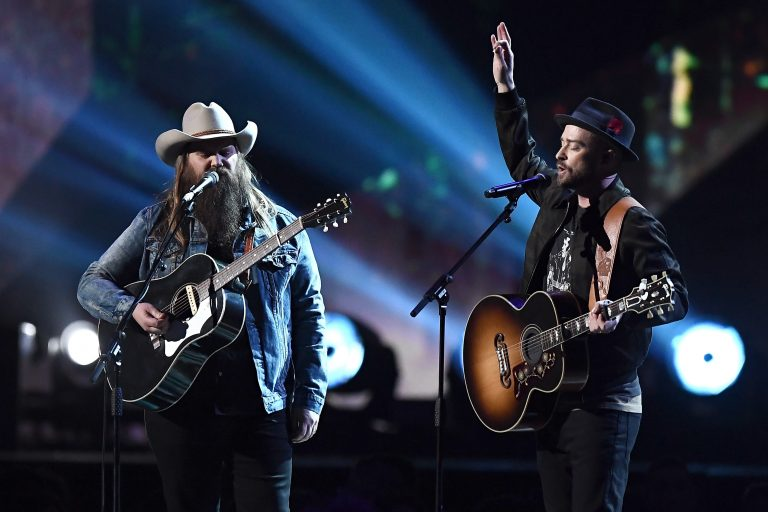 Justin Timberlake and Chris Stapleton Bring the BRITS to Church with 'Say Something'