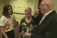 Maren Morris Eats Licorice with James Corden's Parents Backstage at the GRAMMYs