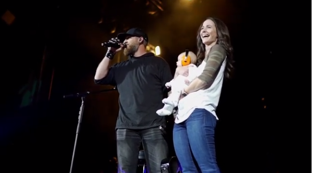 Brantley Gilbert Introduces Fans to Baby Boy on Stage