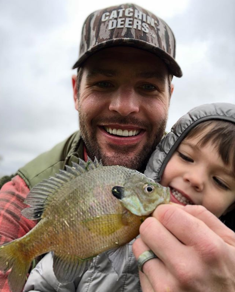Mike Fisher Spends Day Off Fishing With Isaiah