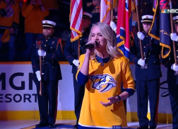 Carrie Underwood Brings Down The House With National Anthem at NHL Playoff Game
