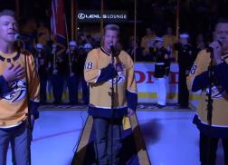 Rascal Flatts Stuns With National Anthem at Nashville Predators Playoffs